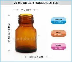 Pharmaceutical Round Glass Bottle 20ml