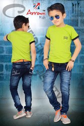 Knitted Boys Denim Jeans, Age Group: 3-15