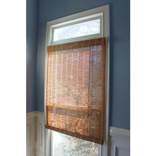 Brown Bamboo Roll Up Window Blind