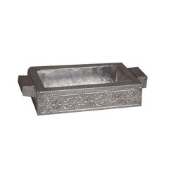Wood Silver Tray, Size: 6x4 Inch