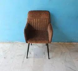 MS Iron + Facbric Modern Single Seater Sofa Chair, Living Room, Size: W19xd21xh33 Inch