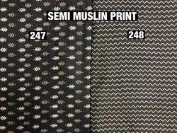 Semi Muslin Print Fabric
