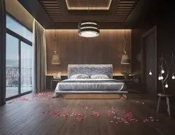 Unique Wood Walls Bedroom Interior Service