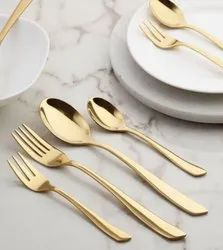 Designer Gold Plated Stainless Steel Cutlery Set