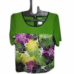 Ladies Green Printed Top