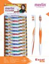 Soft Multicolor Merlin Excel Toothbrush, For Tooth Cleaning