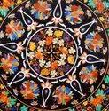 Marble Corner Table Top Multi Stone Mosaic Art