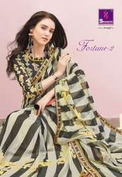 Shangrila Fortune Vol-2 Georgette Printed Saree Catalog Collection