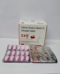 Calcium Citrate & Vitamin D3 Chewable Tablets