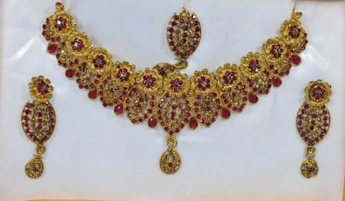 Red Women's Jewelry Set Bridal Wedding Necklace Earring Sets, Rs 500 /set |  ID: 20713943573