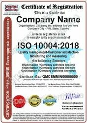 ISO 10004:2018 Certification for Quality Management - Customer Satisfaction - Monitoring (QMCS)