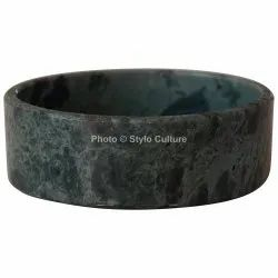 4.75 Round Indoor Green Marble Tray