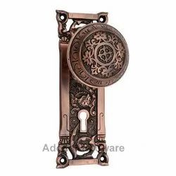 Abidah Brass Door Knob with Plate