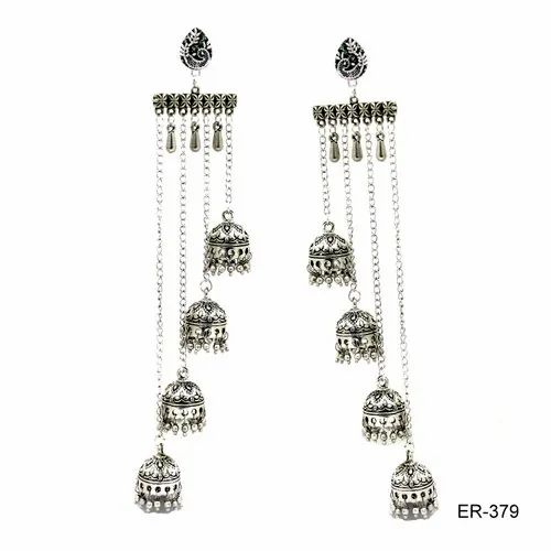 Oxidized Long Earrings Jewellery