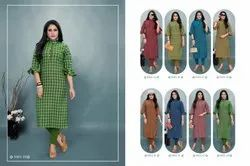 Sinzara Checkers Vol-2 Stunning Look Modern Trendy Kurties
