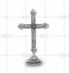 Silver Plated Christmas Cross