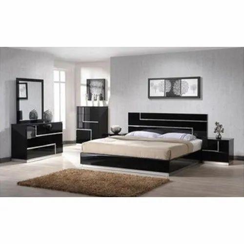 Black Cherry Wood Bedroom Furniture Set, Black Wood Bedroom Furniture