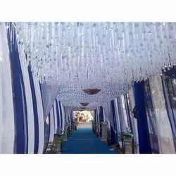 LED Glass Wedding Crystal Hanging Chandelier, For Decoration