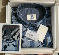 Plain Full Sleeves Denim Shirt - 3795