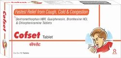 Cofset Tablets, For Hospitals, Packaging Size: 30x12