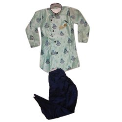 Printed Kids Ethnic Kurta Pajama, Size: 16-36