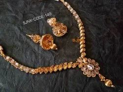 Gold Satyam jewellery Nx Traditional Necklace Set