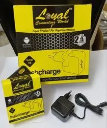 Black Electric Fast Charger With Wire, for Mobile Charging