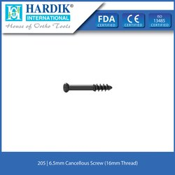 6.5mm Cancellous Screw (16mm Thread)