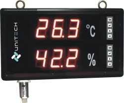 Large Display Temperature Humidity Indicator