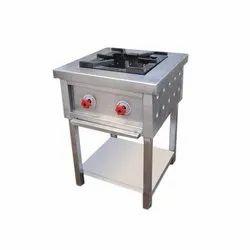 Brite Stainless Steel Commercial Single Burner Range