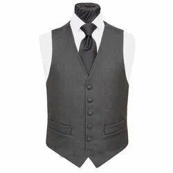 Cotton Grey Mens Party Wear Waistcoat, Size: S-XXL