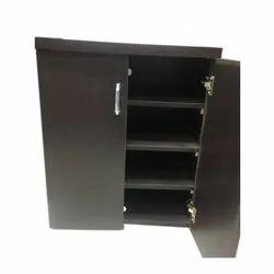 Yogesh M.df Or Particle Board Black Wooden Shoe Rack, Size: 2.5x2x1 Ft (hxwxd), 4
