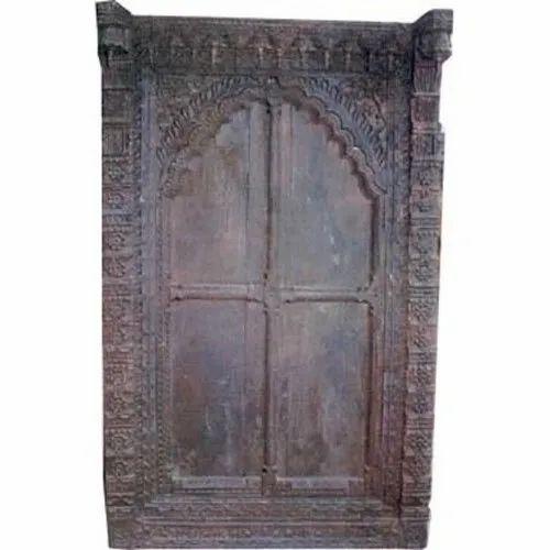 Wooden Color Coated Teak Wood Exterior Doors, Size: 8*4,9*5 Feet