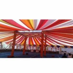 Plain Micro Polyester Tent Fabric, Luster Feel, Packaging Size: Lump Pack