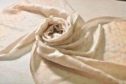 Cream Color Saboori Zari Wool Stoles