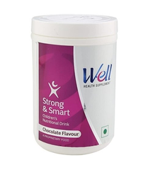 Vitamins Chocolate Flavour Well Strong And Smart, 200gm, Powder