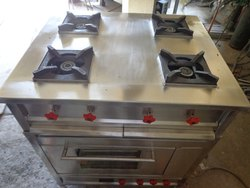 Four Burner Gas Range With Electric Oven