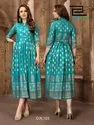 Walkway Volume -3 New Latest Foil Printed Rayon Anarkali Kurtis