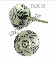 Ceramic  Cabinet Cupboard Door Knobs