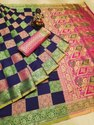 Banarasi Silk Saree With Heavy Weaving Rich Pallu And Also With Contrast Blouse