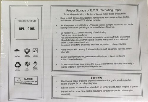 Bpl 9108 Ecg Chart Paper