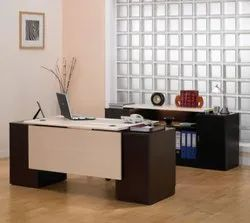 Wooden Rectangular Manager Office Table, Size: 180.4 cm x 45 cm x 75 cm