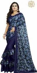 Ruffle Silk Saree