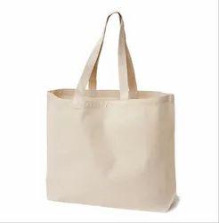 Vertex Loop Handle White Cotton Canvas Bag, Size/Dimension: 42x35x18 Cm