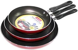 Red And Black Frying Pan, For Fry And Cook