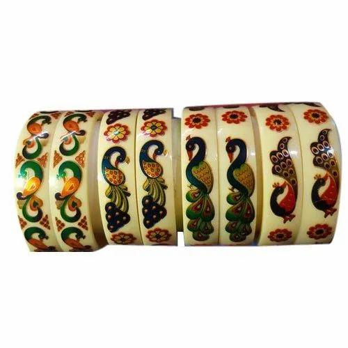 Multicolor Acrylic Fancy Bangles