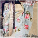 Digital Print Silk Linen Saree