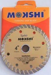 Mokshi 4 Inch Turbo Diamond Saw Blade, Size: 4