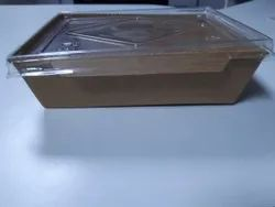 Biodegradable Rectangular Container With Lid