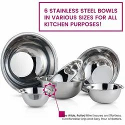 Stainless Steel Deep Mixing Bowls